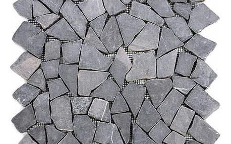 Divero Garth 563 Mramorová mozaika šedá 1 m2 - 30x30cm