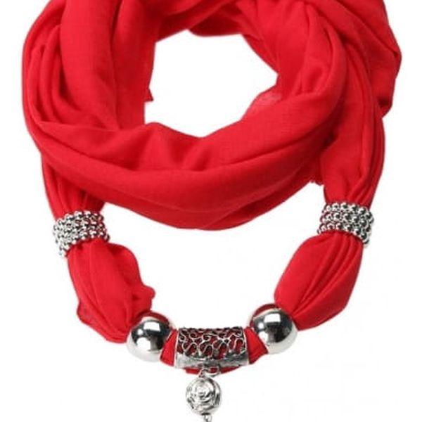 Dámský šátek s přívěskem slona - 7 barev