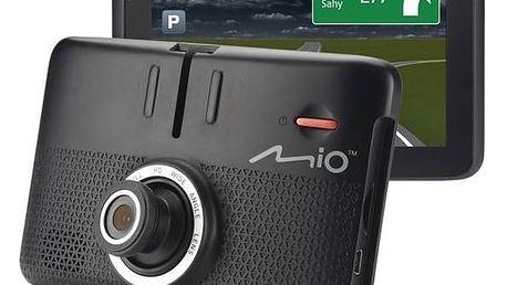 Navigační systém GPS Mio MiVue Drive 55LM s kamerou, mapy EU (44) Lifetime (5262N5380032) černá + Doprava zdarma