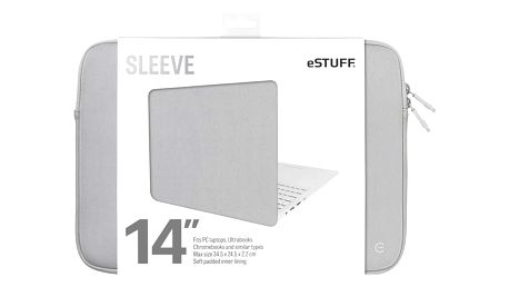 eSTUFF Ultrabooks, Chromebooks 14'' Sleeve - Fits PC Laptops, grey - ES82252-GREY