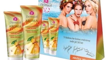 Dermacol Aroma Ritual Pear Williams dárková kazeta pro ženy sprchový gel 250 ml + tělové mléko 200 ml