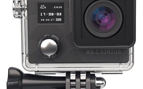 Outdoorová digitální kamera LAMAX X8.1 Sirius + čelenka, plovák a náhradní baterie