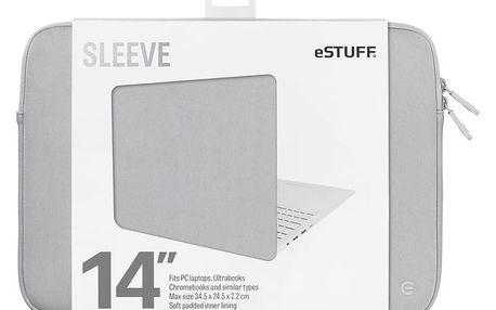 eSTUFF Ultrabooks, Chromebooks 14'' Sleeve - Fits PC Laptops, grey - ES82252-GREY