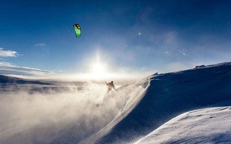 Poznej sílu větru na kurzu snowkiting včetně pojištění a výbavy