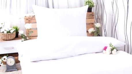 XPOSE ® Prodloužené bavlněné povlečení MICHAELA - bílá 140x220, 70x90