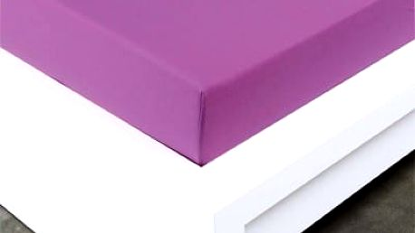 XPOSE ® Bambusové jersey prostěradlo jednolůžko - fialová 90x200 cm