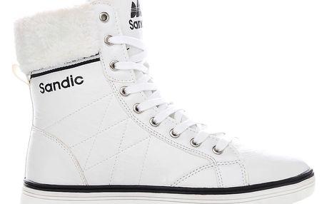 Zimní bílé tenisky SD1407-3-CZ.WH 40