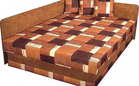 Čalouněná rohová postel ROBO LUX (M) 140x200 cm vč. roštu, matrace a ÚP