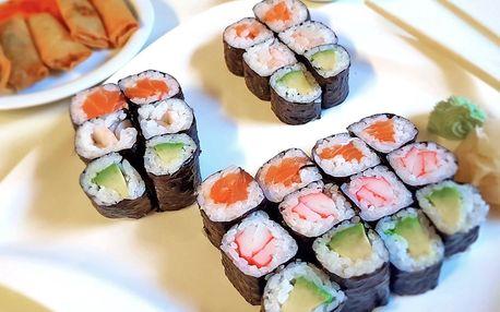 Asijský set s sebou: polévka, sushi, minizávitky