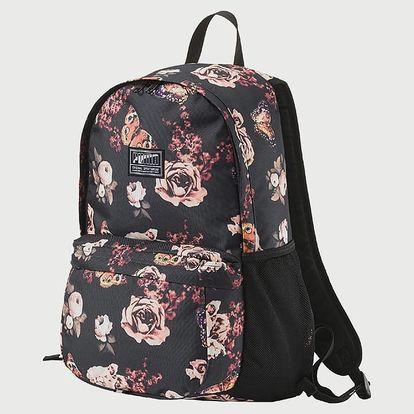Batoh Puma Academy Backpack Black-Flower Barevná
