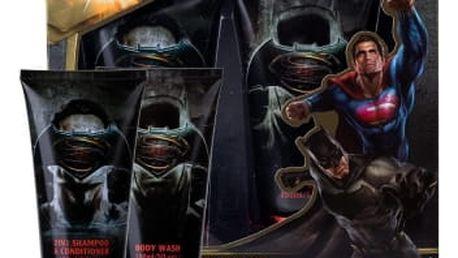 DC Comics Batman v Superman dárková kazeta pro děti sprchový gel 150 ml + šampon & kondicionér 2v1 150 ml