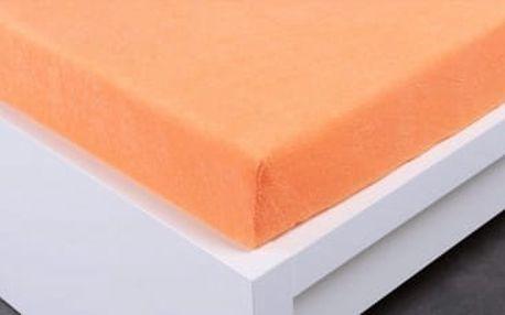 XPOSE ® Froté prostěradlo dvoulůžko - meruňková 180x200 cm