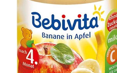 6x BEBIVITA Jablka s banánem (190g) - ovocný příkrm