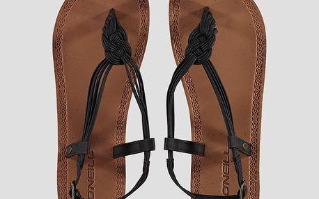 Sandály O´Neill FW BRAIDED DITSY SANDAL Hnědá