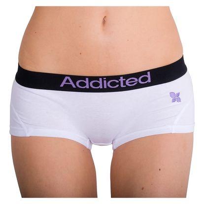 Dámské Kalhotky Addicted Bílá Fialová M