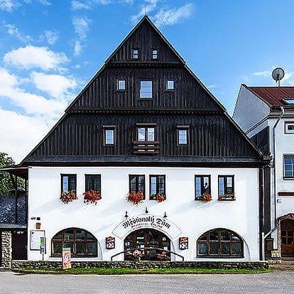3 nebo 4denní podzimní pobyt s polopenzí pro 2 v penzionu Měšťanský Dům v Krkonoších