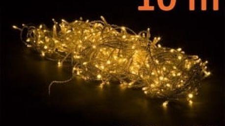 Vánoční LED osvětlení 10 m - teple bílé, 100 diod OEM M02136