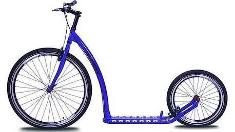 Koloběžka Olpran A7 modrá + Reflexní sada 2 SportTeam (pásek, přívěsek, samolepky) - zelené v hodnotě 58 Kč + Doprava zdarma