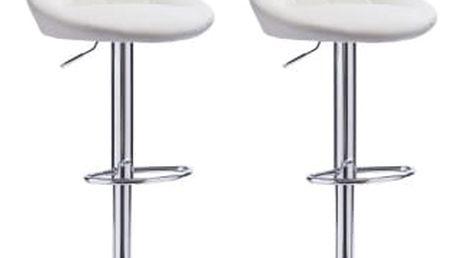 2x Barová židle Hawaj CL-3235 (bílá)