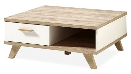 Oslo - Konfer. stolek, 2292-221 (bílá,dub sanremo)