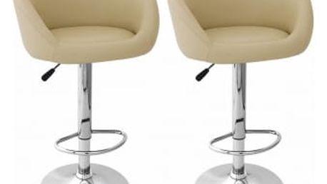 2x Barová židle Hawaj CL-7010 | krémová
