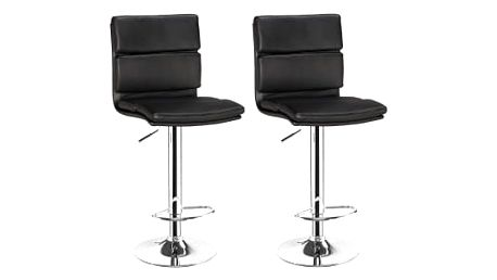 2x Barová židle Hawaj CL-7006-2 (černá)