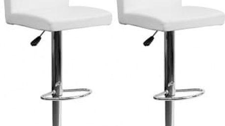 2x Barová židle Hawaj CL-7004 (bílá)