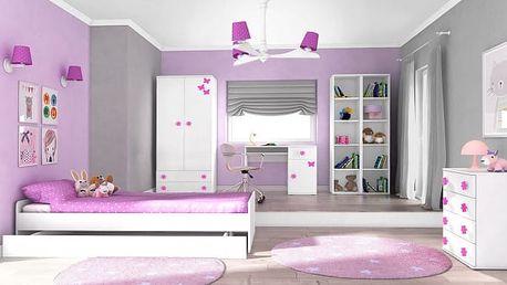 Simba 10(korpus bílá/front bílá a růžový motýlek)
