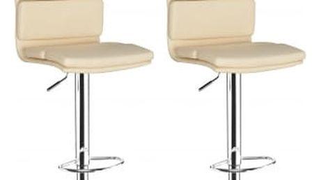 2x Barová židle Hawaj CL-7006-2 (krémová)