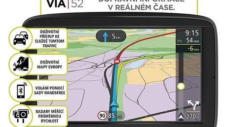 Navigační systém GPS Tomtom VIA 52 Europe LIFETIME mapy (1AP5.002.00) černá + Doprava zdarma
