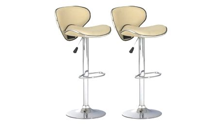 2x Barová židle Hawaj CL-2112 (krémová)