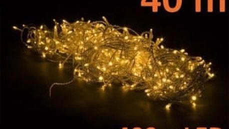 OEM M02044 Vánoční LED osvětlení 40 m, teple bílé, 400 diod