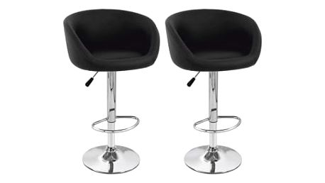 2x Barová židle Hawaj CL-7010   černá