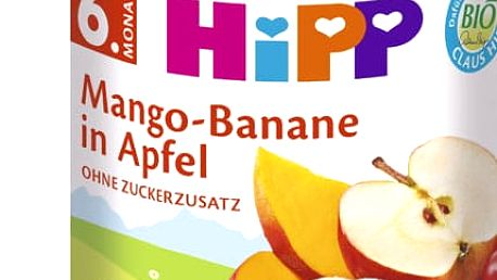 6x HIPP BIO Jablko s mangem a banány, 190 g - ovocný přírkm