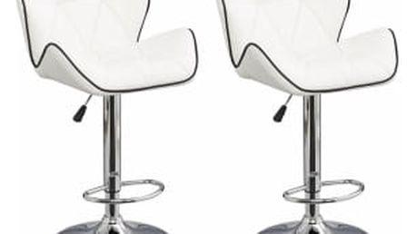 2x Barová židle Hawaj CL-3227 | bílá