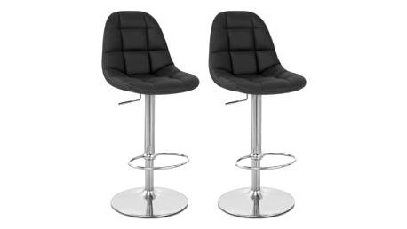 2x Barová židle Hawaj CL-8023 (černá)