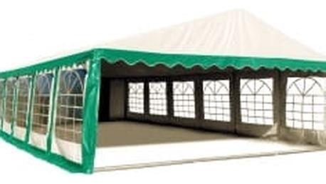 Párty stan Ohnivzdorný Premium 6 x 12 m | zeleno-bílá