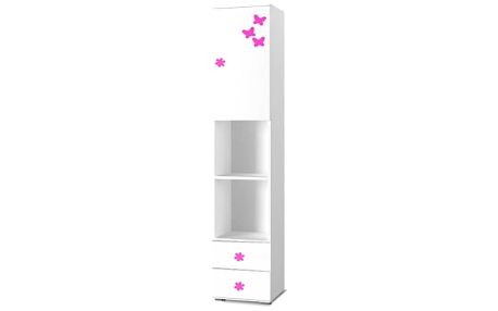 Simba 4(korpus bílá/front bílá a růžový motýlek)