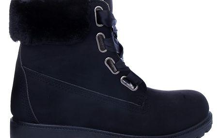 Černé zimní workery SJ1695-1B 38