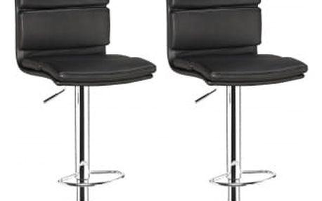 2x Barová židle Hawaj CL-7006-2   černá