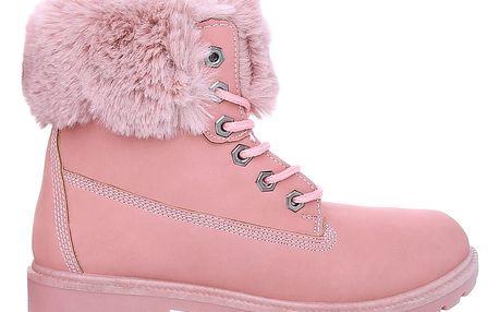 Růžové zimní farmářky workery SJ1691-3PI 39