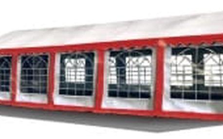 Párty stan Ohnivzdorný Premium 6 x 12 m | červeno-bílá