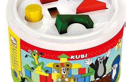 BINO Kostky v kbelíku - Krtek 13734