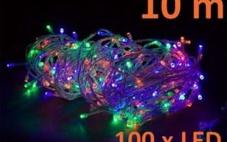 OEM M02137 Vánoční LED osvětlení 10 m, barevné, 100 diod