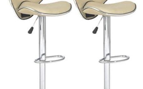 2x Barová židle Hawaj CL-2112   krémová