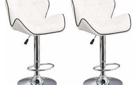 2x Barová židle Hawaj CL-3227   bílá