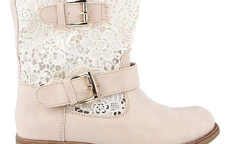 Krajková kotníková obuv 67520BE 38
