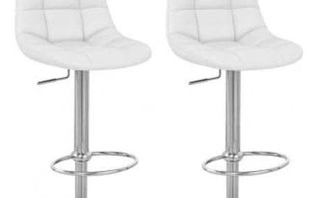 2x Barová židle Hawaj CL-8023   bílá