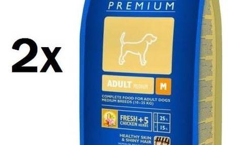 Granule Brit Premium Dog Adult M 2 x 15 kg + Doprava zdarma