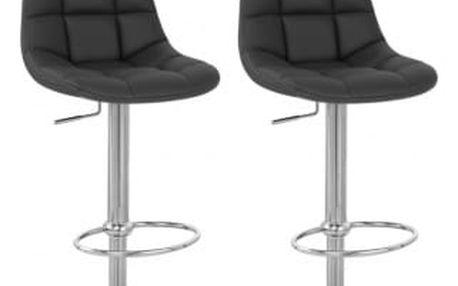 2x Barová židle Hawaj CL-8023   černá